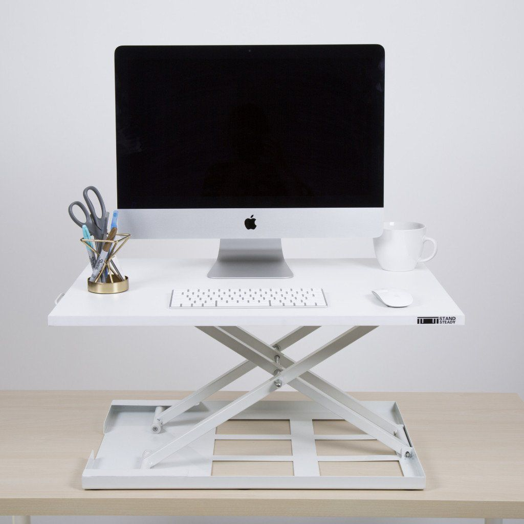 Xelite pro standing desk converter office pinterest white
