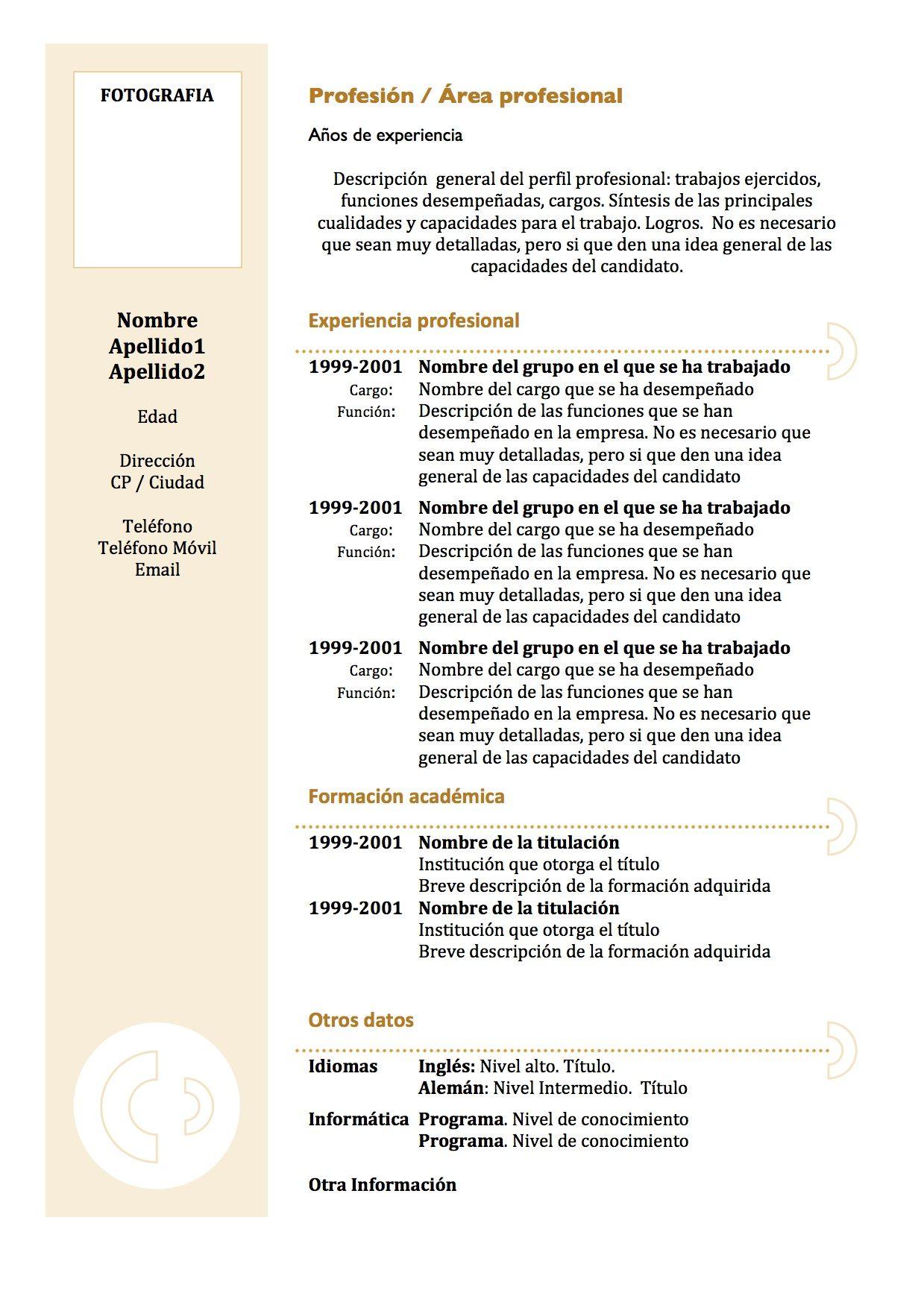 Pin de Fede Montenegro en cv funcional | Pinterest | Currículum ...