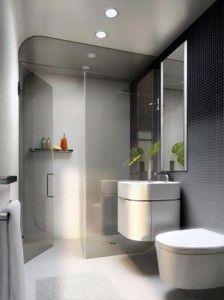 Een kleine badkamer verbouwen met douche, wastafel en liefst toilet ...