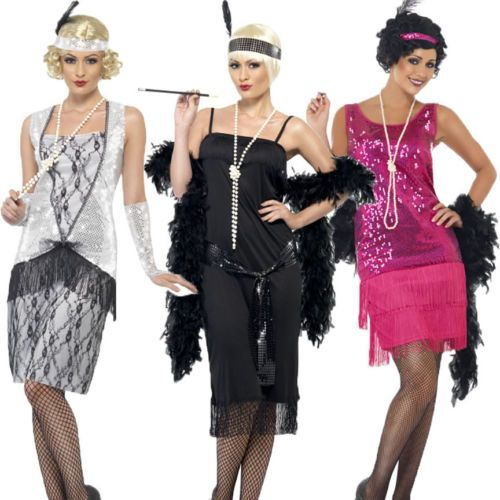 22daff2907 Flapper Dresses Fancy Dress-Roaring 20's Costumes-Jazz Theme Party ...
