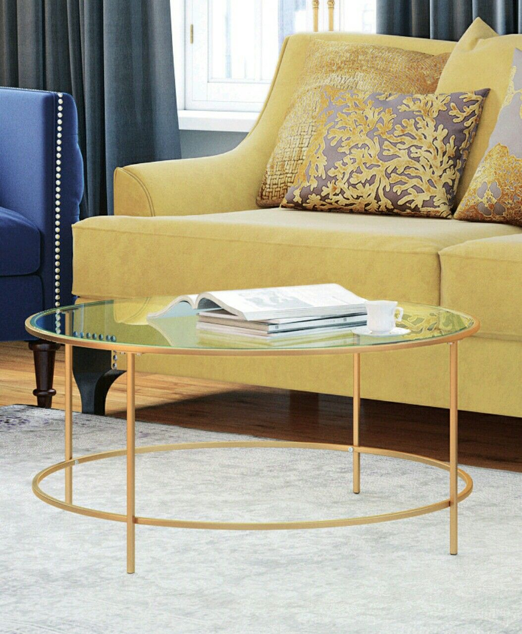 Gold Tone Coffee Table 135 Coffee Table Living Room Decor Furniture Coffee Table Vintage [ 1281 x 1054 Pixel ]