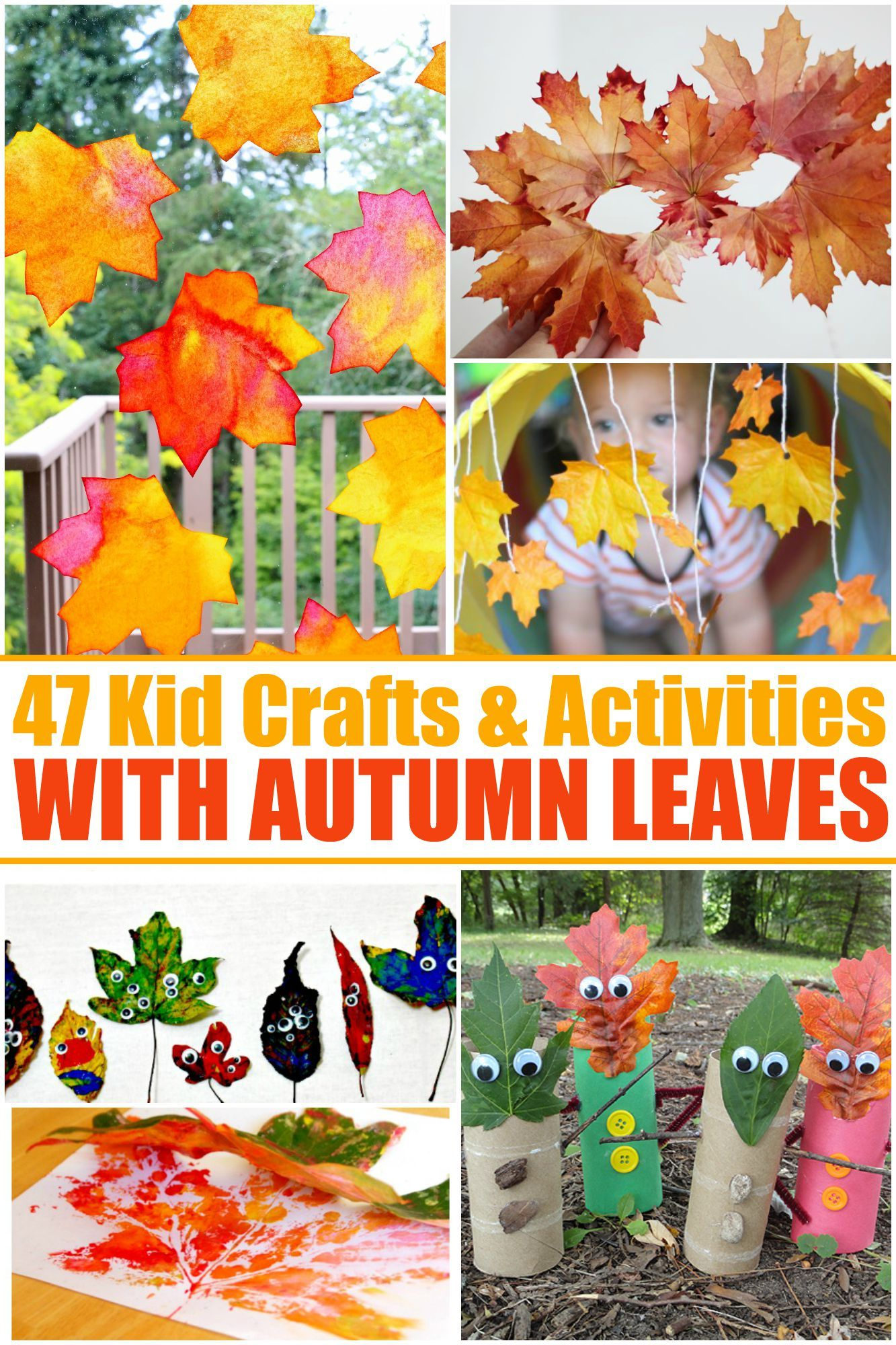 47 Kids Crafts Amp Activities With Autumn Leaves