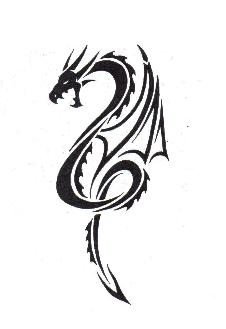 Dragon Tattoo Designs Free 19980 Coupletattoo Com Tribal Dragon Tattoos Small Dragon Tattoos Tribal Dragon Tattoo