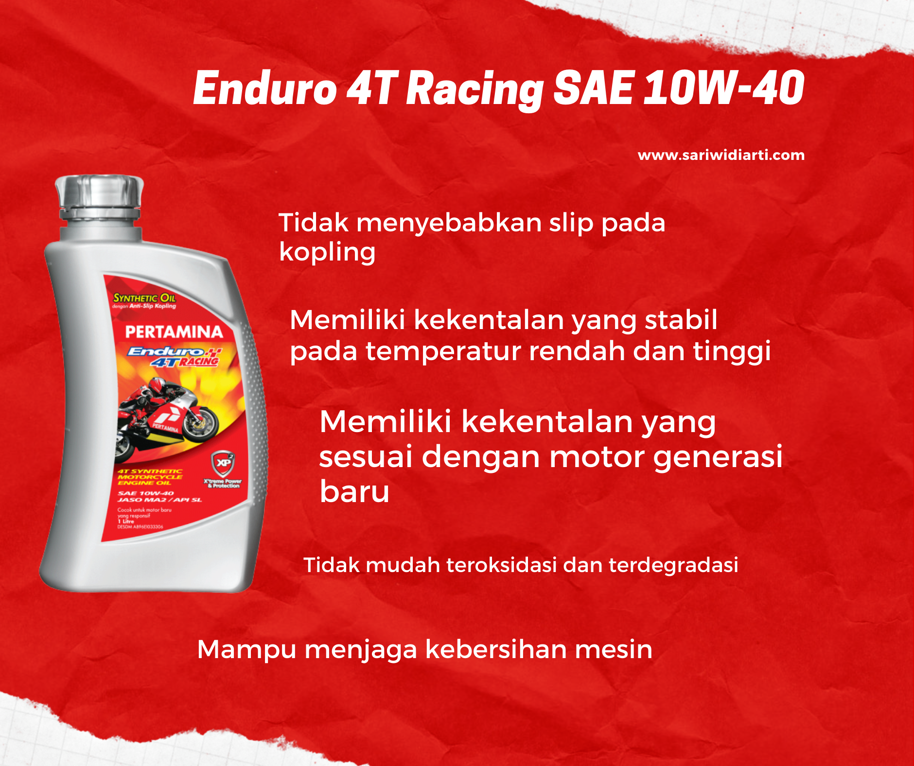 Enduro 4T Racing SAE 10W-40.