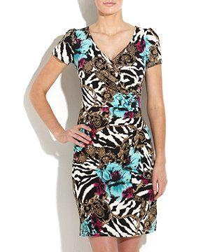 White Pattern (White) Little Buddha Nadalee Zebra Print Dress | 253033719 | New Look