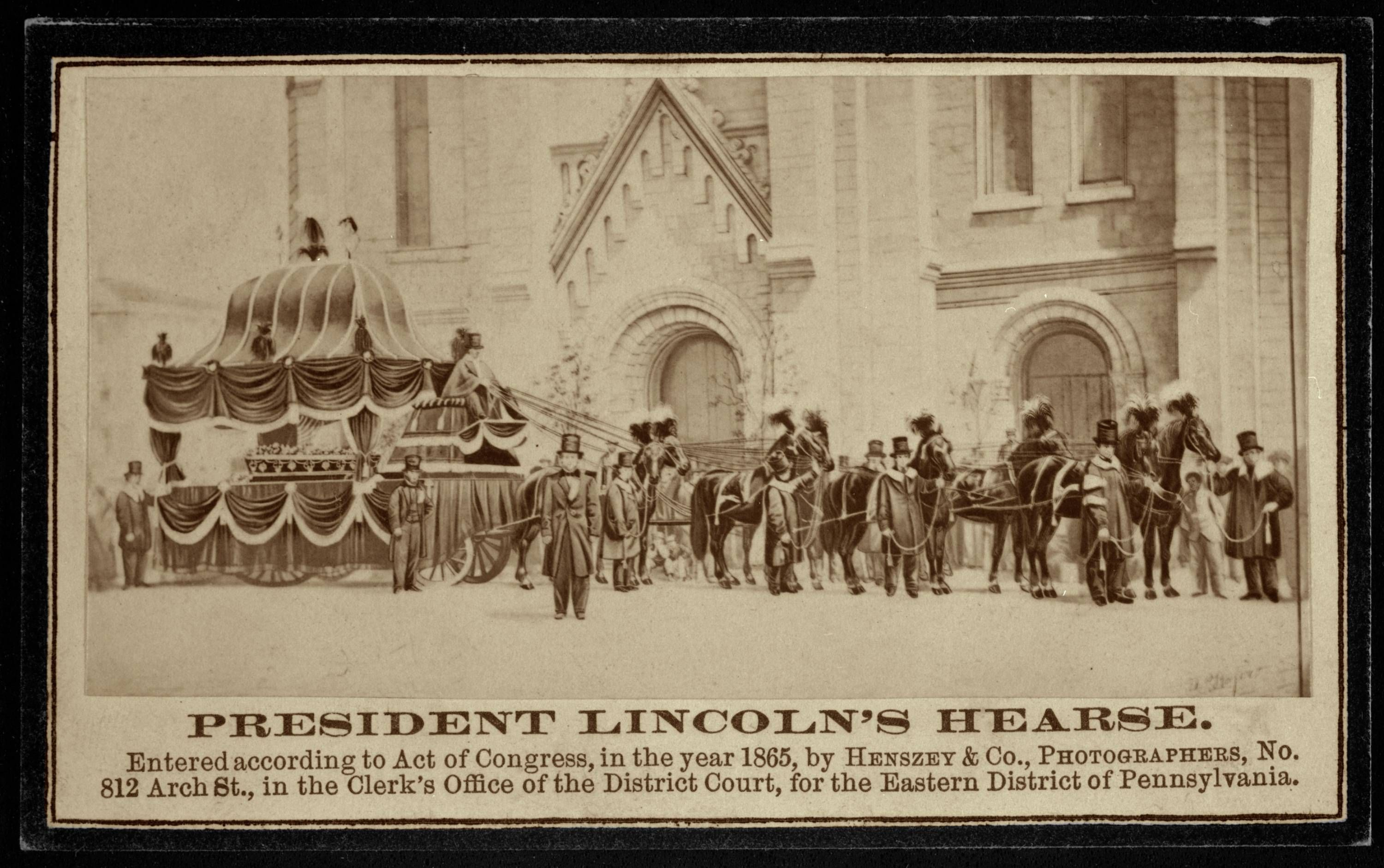 Abraham Lincoln S Funeral Procession Hearses And Ambulances Pinterest