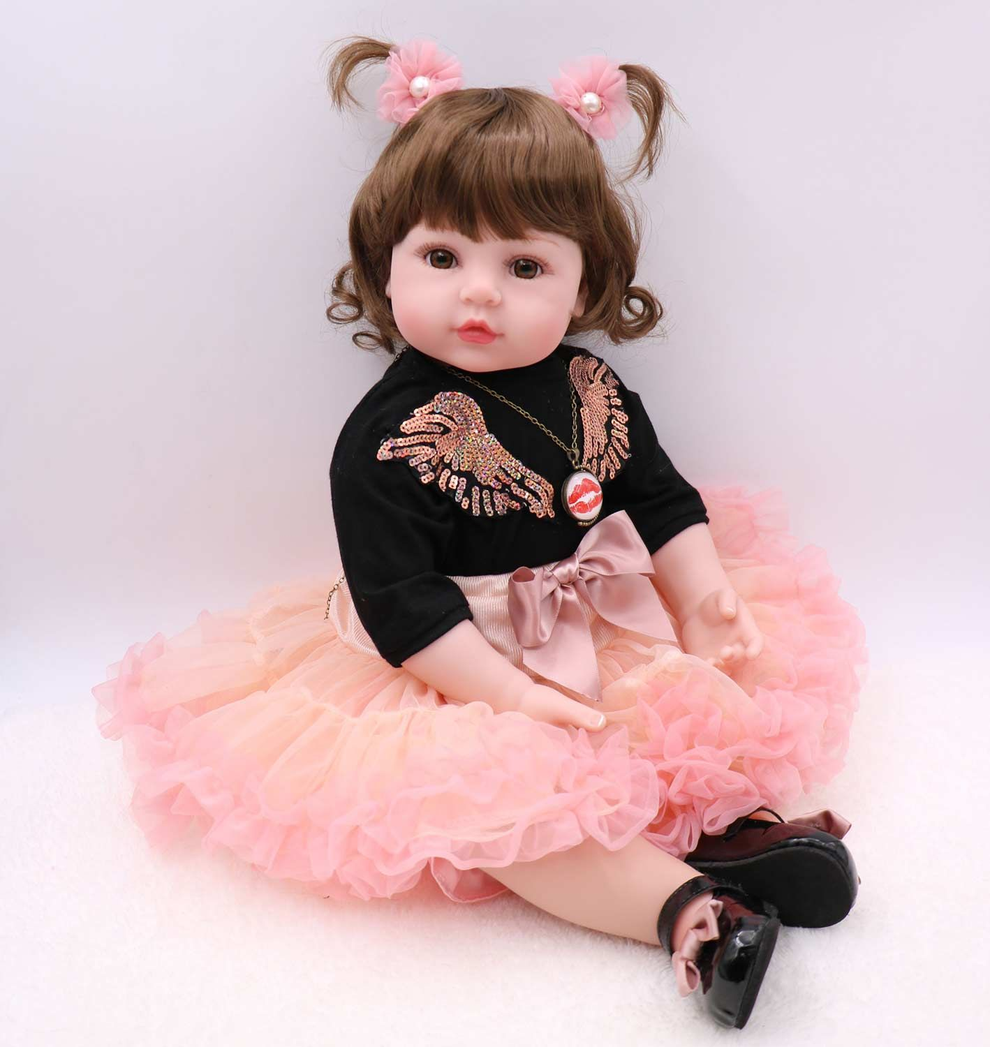 "Chic Lifelike Reborn Bebe Doll Clothes For 22/"" Newborn Doll Baby Only Clothing"
