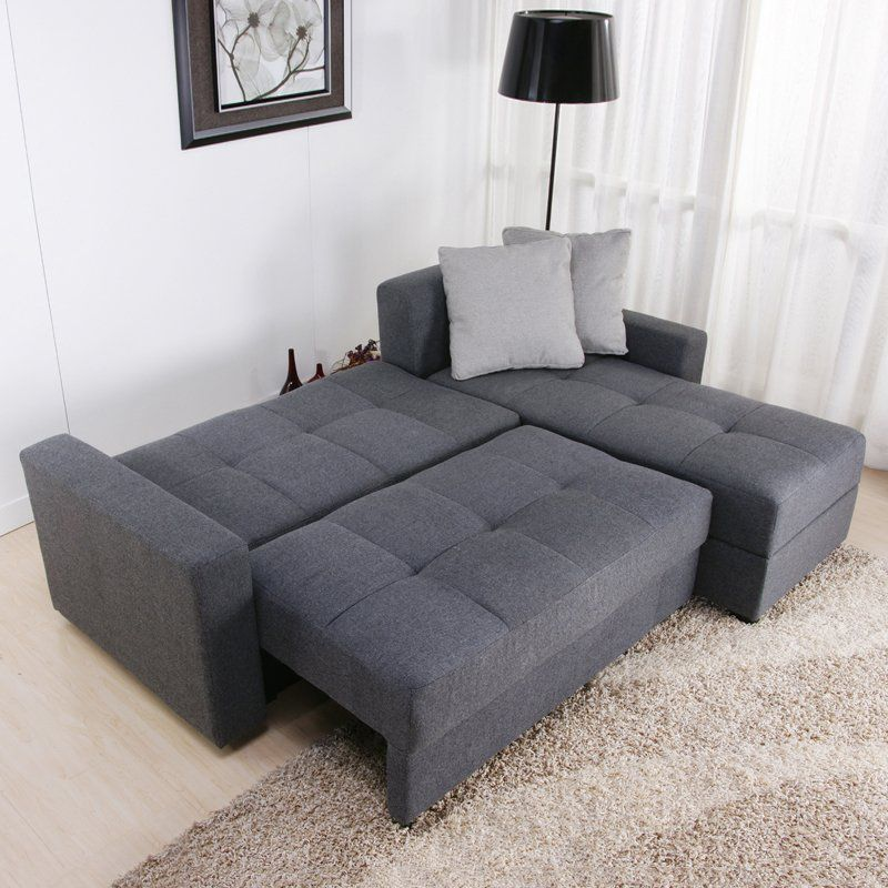 High Quality $584 And Free Shipping Full Size Pull Out Bed DHP Sutton Convertible  Sectional Sofa
