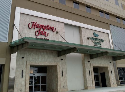 Hilton's newest hotel opened last week as the dual-branded Hampton Inn & Suites and Homewood Suites by Hilton Houston Downtown started welcoming guests through the doors...