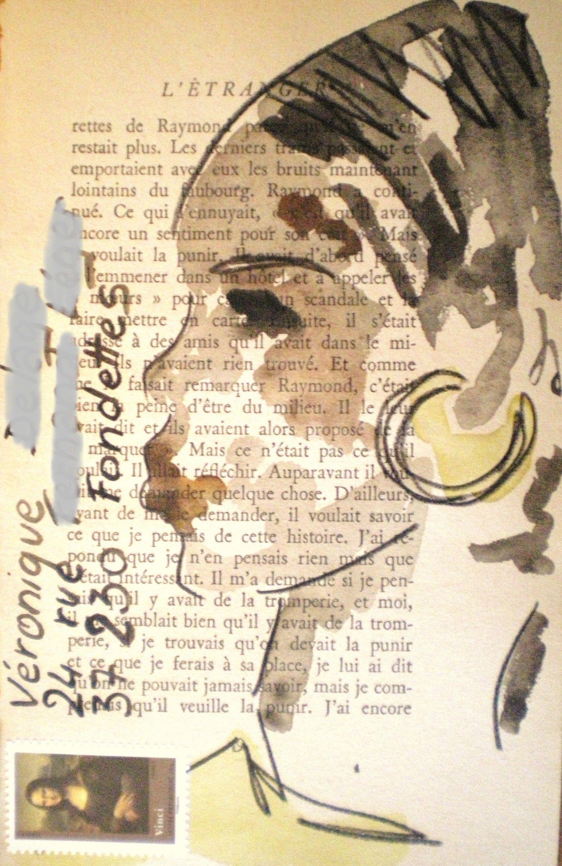 Art Postal Sur Page De Vieux Livre Pages De Vieux Livres Vieux