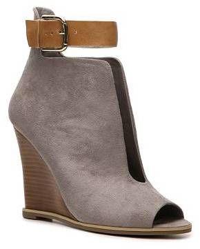 6a6ac715d0c Zigi Strut Wedge Bootie - women s shoes (grey faux suede
