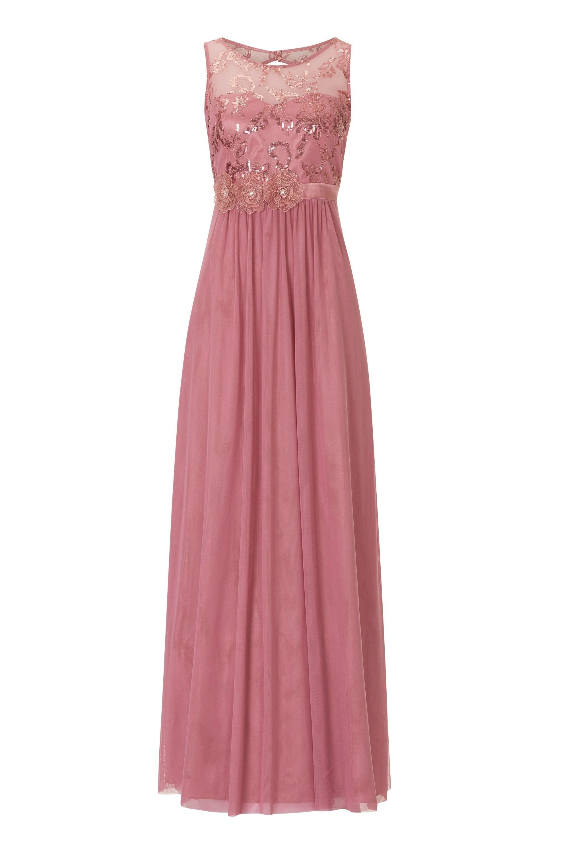 Elegantes Abendkleid Tüll Vera Mont  Mode Bösckens  Abendkleid