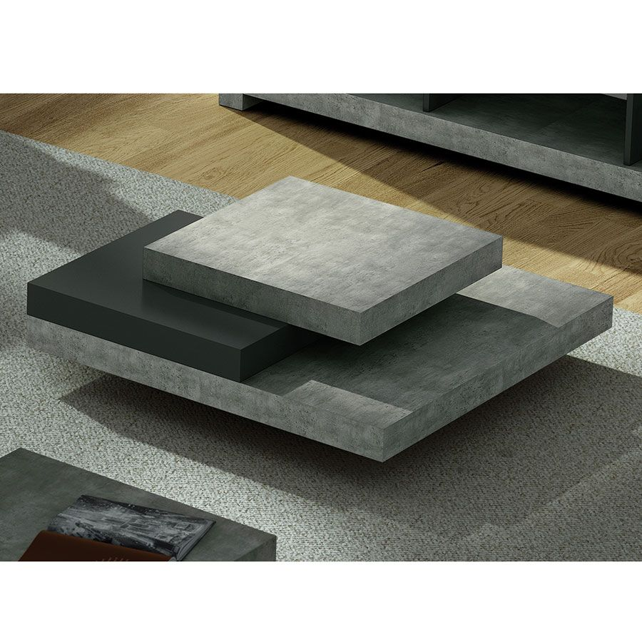 Slate Coffee Table Concrete Woonkamer Tafel Moderne Salontafels Woonkamer Ontwerp [ 900 x 900 Pixel ]