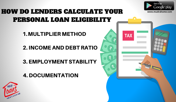How Do Lenders Calculate Your Personal Loan Eligibility In 2020 Personal Loans Business Loans Loan