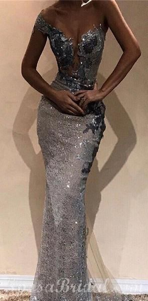 Sparkly Sequin Long Mermaid Prom Dress,One-Shoulder Sheath Modest Prom Dresses, PD1333            #promdresses #longpromdresses #longpromdress #promdress #eveningdress #partydress #fashiondress #2019promdresses #modestpromdresses #modestprom
