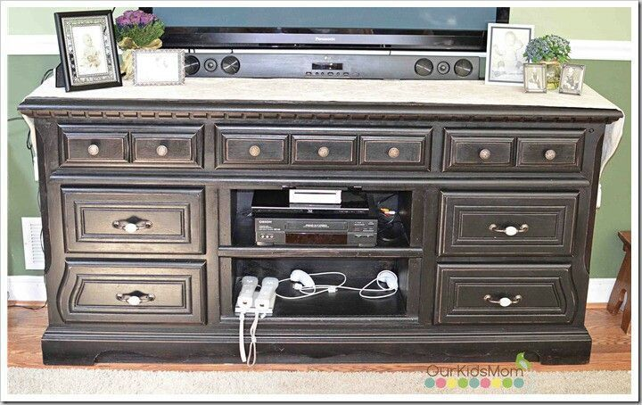 Reuse An Old Dresser Swivel Stand For Tv Standing Mirror