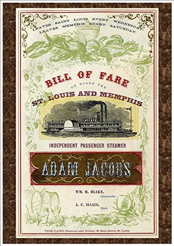 Independent Passenger Steamer Adam Jacobs - Bill Of Fare   - boat bill of sale