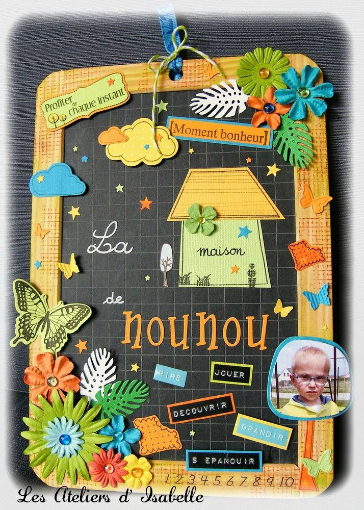 ardoise pour nounou ma p 39 tite fabrique cadeaux. Black Bedroom Furniture Sets. Home Design Ideas