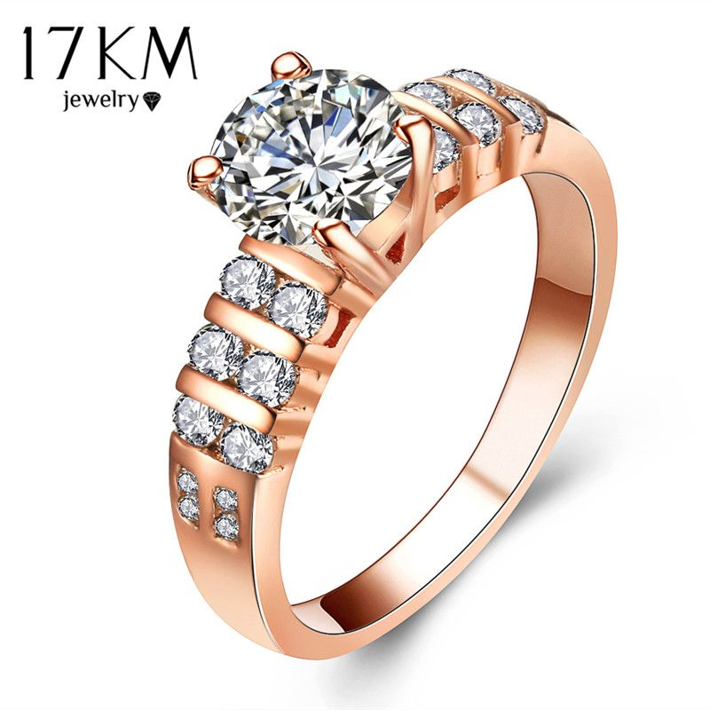 Geometry Cutting Stone Crystal Anniversary Wedding Rings For Women Price 9 46 Free