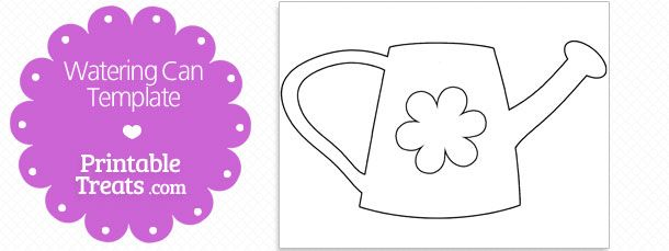 Garden Watering Can Floral Coloring Page Cool Coloring Pages