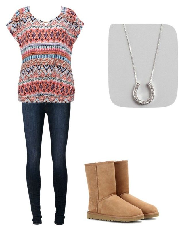 """Aztec #12"" by hofertaylor on Polyvore featuring J Brand, M&Co, UGG Australia and KC Designs"