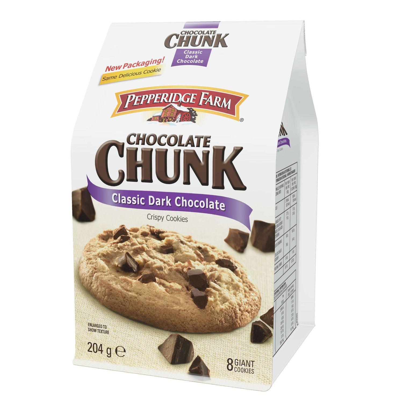 Cookies chocolat noir PEPPERIDGE FARM le paquet de 204 g