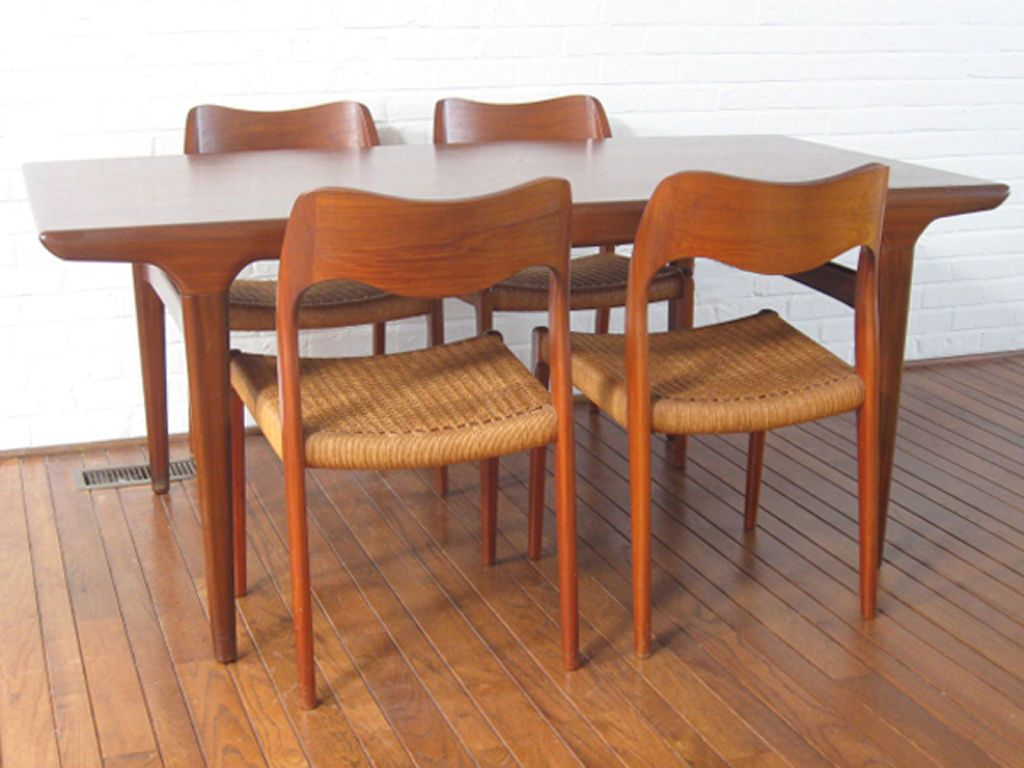 Dining Set By Niels Moller And Johannes Andersen Dining Table Chairs Teak Table Chair Design