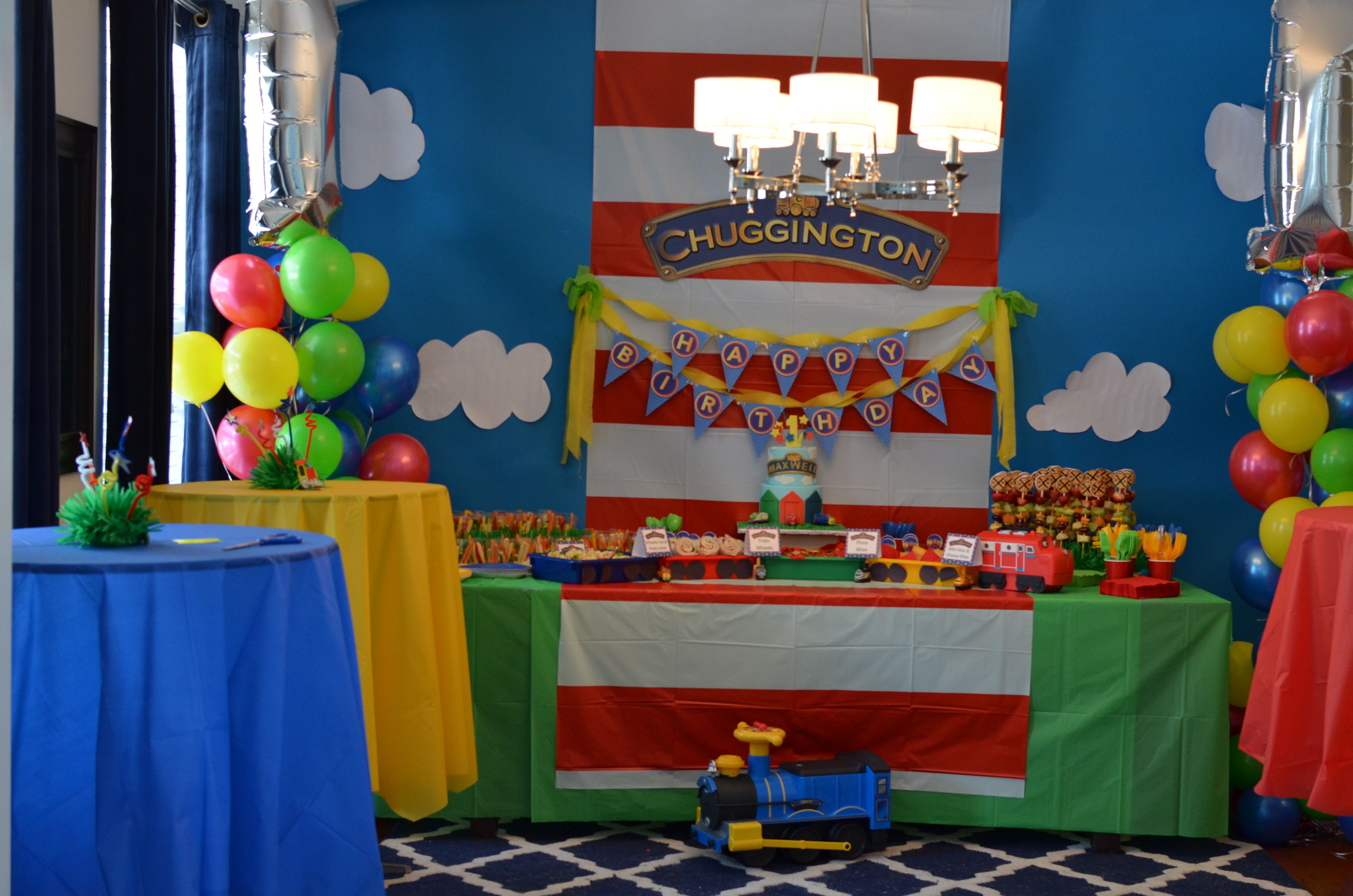 Maxwell\'s Chuggington First Birthday Party | Cumple, Tren y Hijos