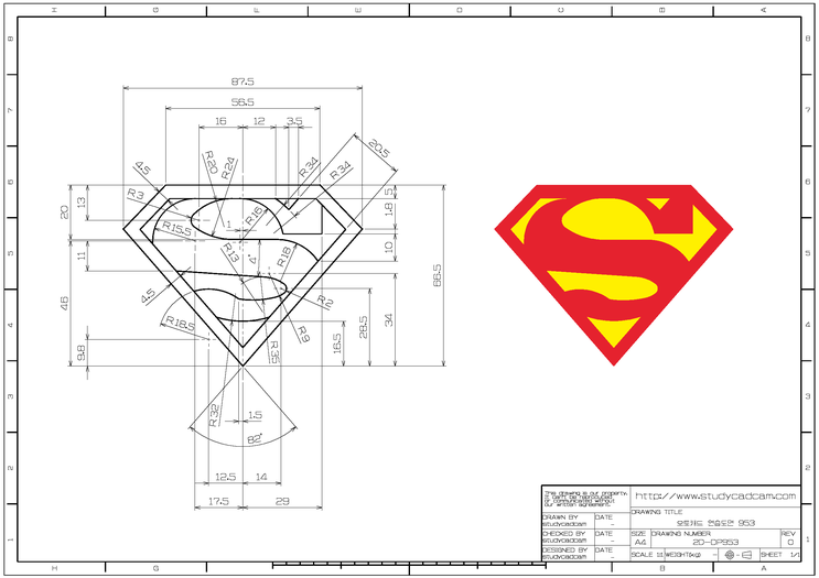 Blog 이미지 뷰어 Autocad Isometric Drawing Technical Drawing Superman Logo