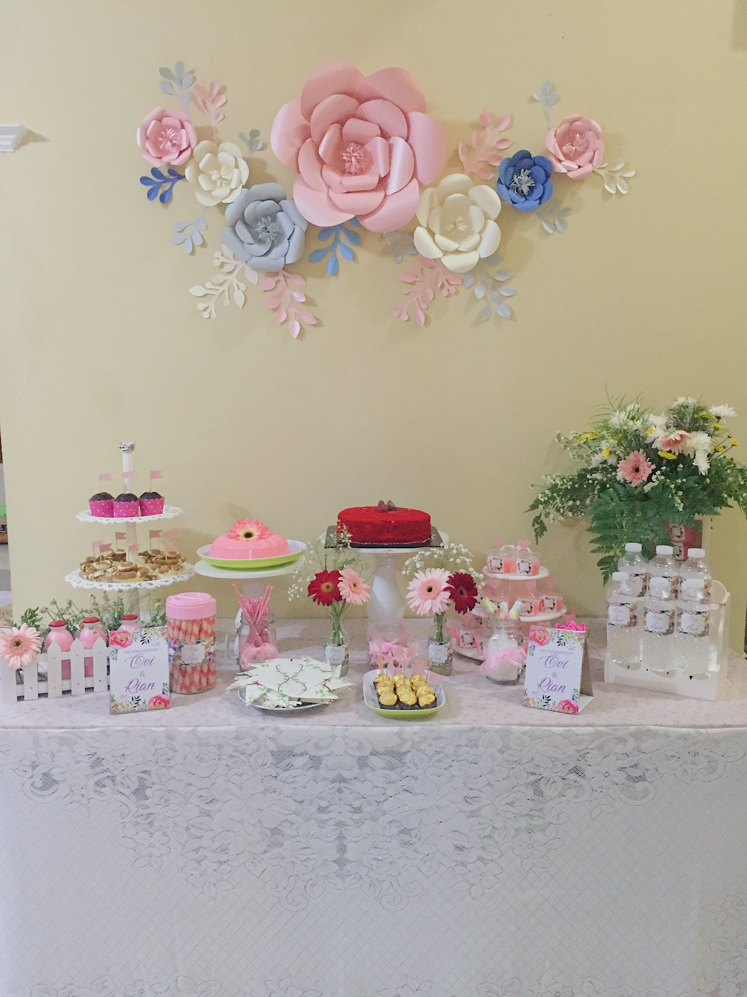 Engagement Dessert table DIY Engagement Decoration