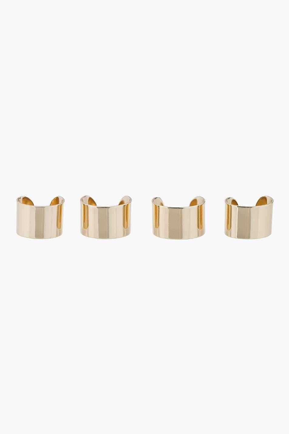 Love the Maison Martin Margiela Gold Knuckleduster Ring Set on Wantering.