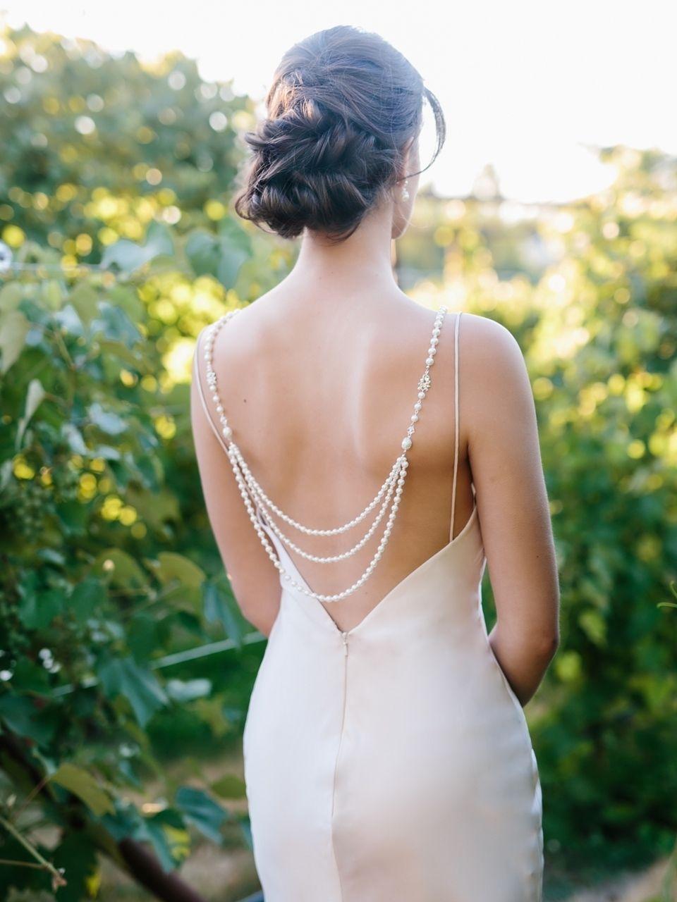 beaded drape accessories. backless dress drape Back drape dress adornment dress embellishment crystal drapes wedding dress drapes