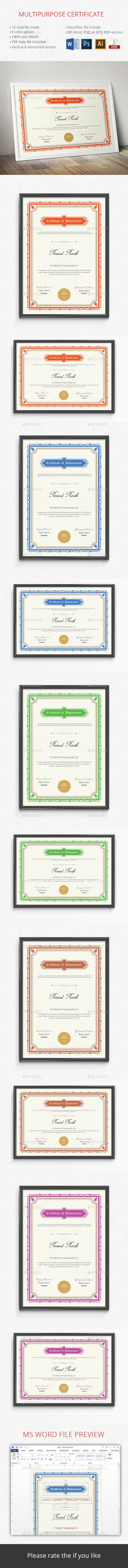 Certificate  Certificate Templates Certificate Design And