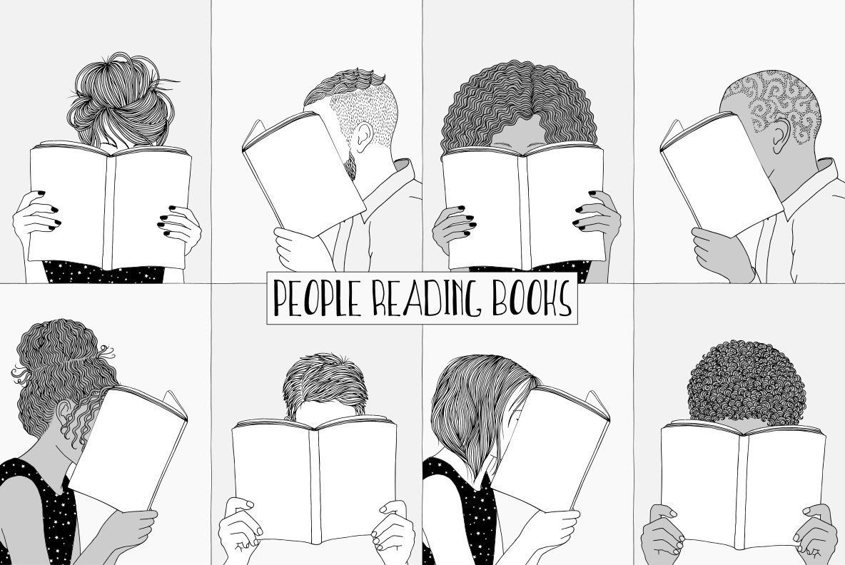 People Reading Books Graphics762 Youworkforthem How To Draw Hands Books To Read Book Drawing