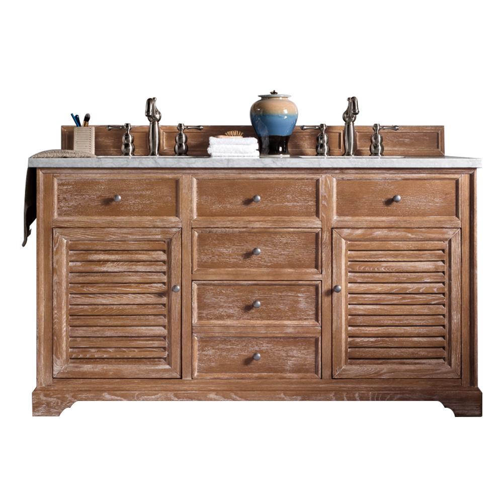 60 Savannah Driftwood Double Sink Bathroom Vanity Driftwood