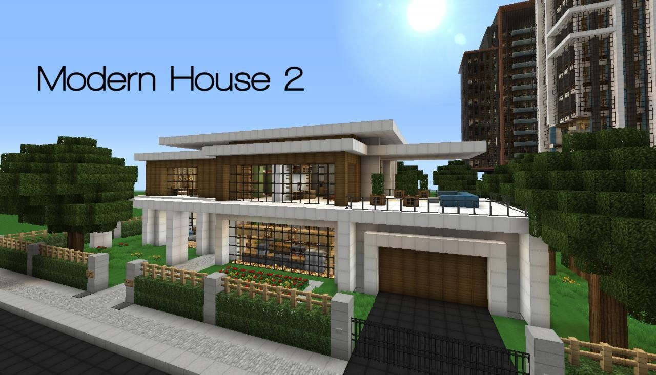 ^ Minecraft Modern House 1 05 minecraft wallpapers minecraft modern ...