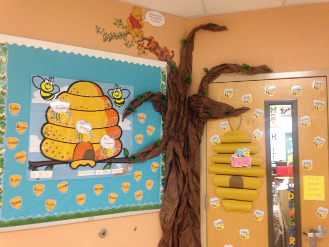 Winnie The Pooh Themed Bulletin Board For Classroom