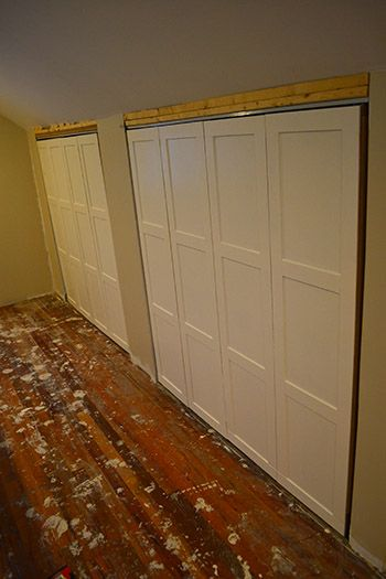 Diy Board And Batten On Under Eave Closet Doors Barn