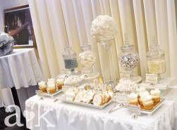 Silver wedding anniversary dessert buffet by a a&k lolly buffet