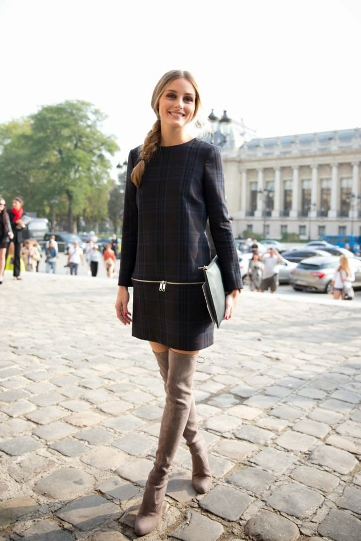 Black dress 60s style boots