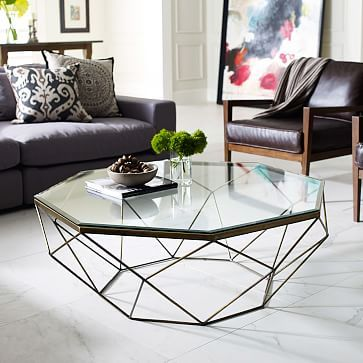 Geometric Coffee Table Living Rooms Room And Formal Living Rooms - West elm geometric coffee table
