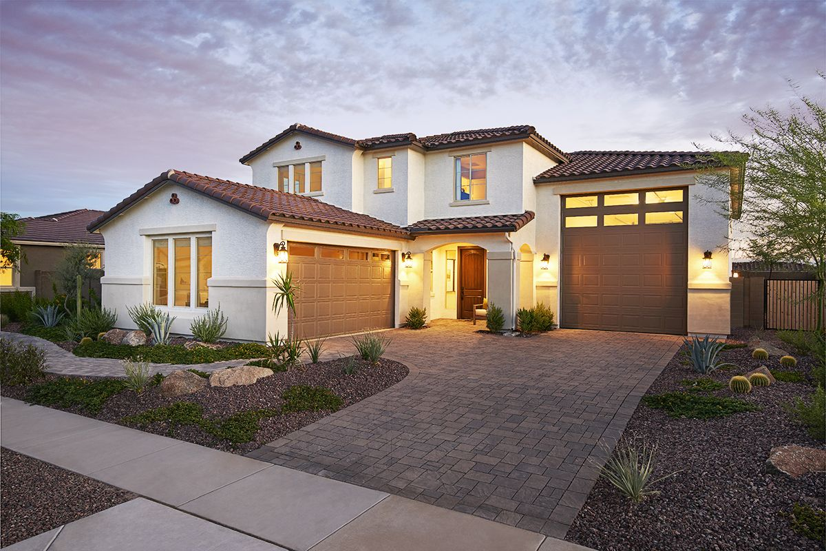 Outstanding Two Story Paulson Model Home Surprise Arizona Richmond Home Interior And Landscaping Oversignezvosmurscom