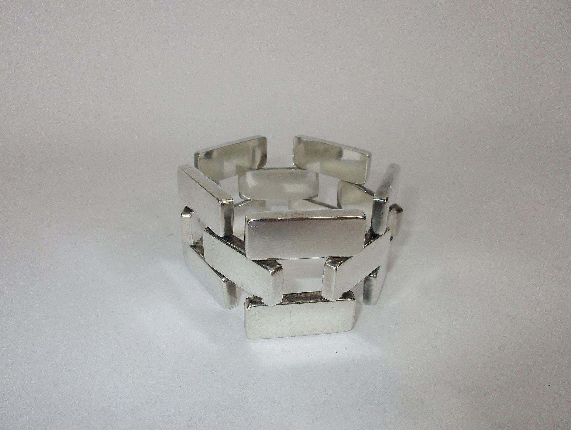 Rare georg jensen ubrick linku sterling bracelet by astrid fog c