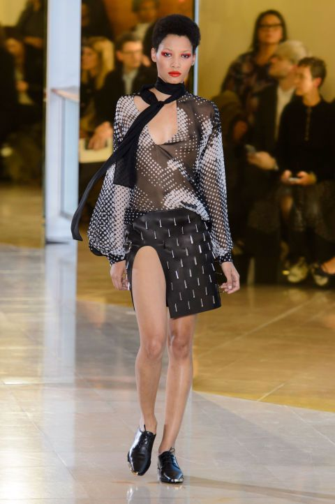The extremely high slits at Anthony Vacarello