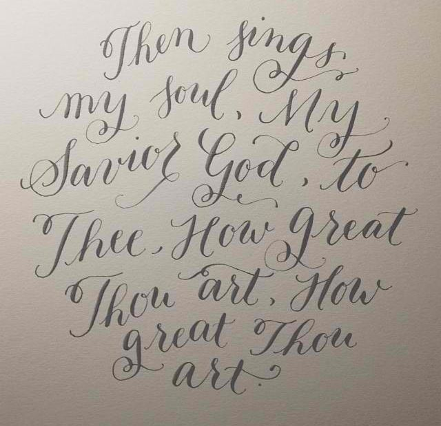 How Great Thou Artlike The Quote And The Font Style Tattoo