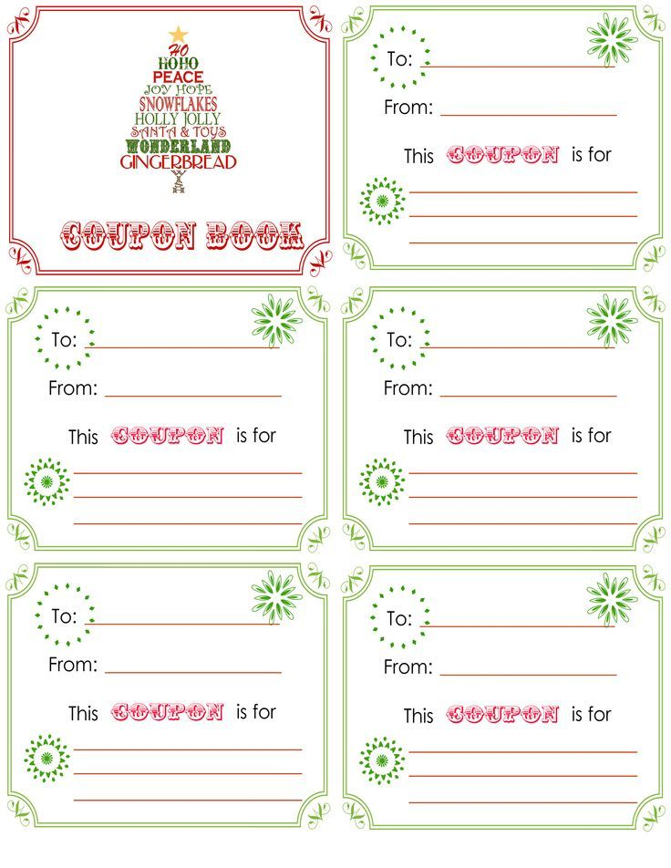 Super cute idea! I am going to make a little coupon book for - coupon template free printable