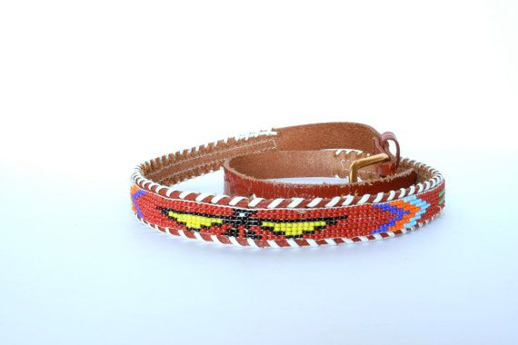 NEW!!! Just in time for gift giving!  70's Vintage Western Beaded Belt Native by pinebrookvintage, $12.00