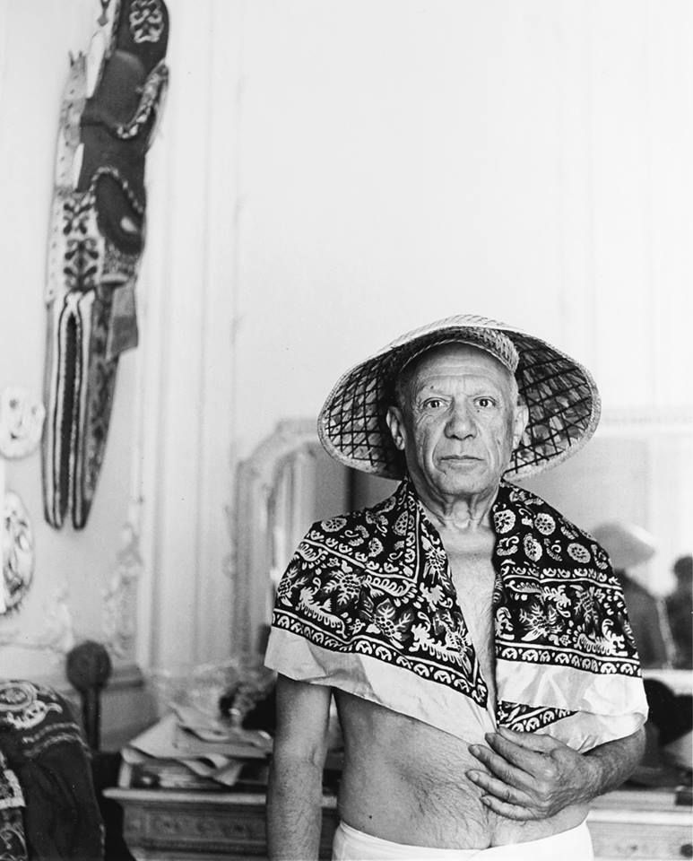 Pablo Picasso by André Villers, 1957