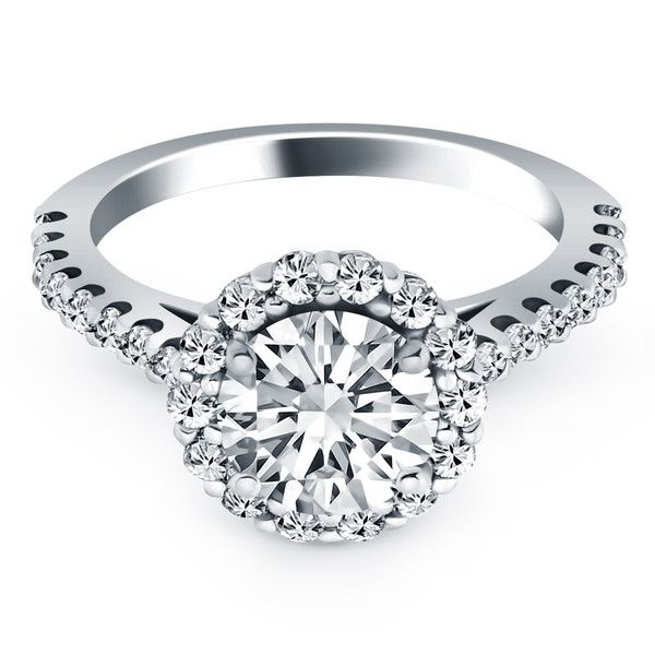 Crown Of Light Micro Prong Cathedral Diamond 14k White ...