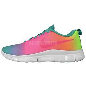a787597507d4 Nike Free Express GS Rainbow Gradient Run Girls Youth Womens Running ...